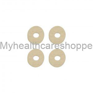F-00022-01C Oval adhesive felt pad with central hole Corn pads