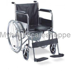 Self Propelled Aluminium Commode Wheelchair