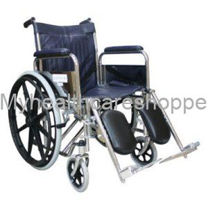 Chrome Elevating Wheelchair With Safety Belt