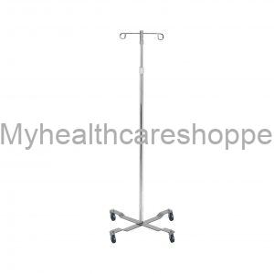 Mobile Drip Stand Pole With Two Hooks